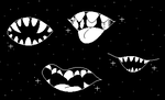 Mouths in space by IAmWolfie