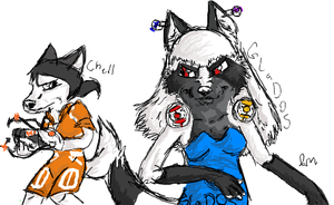 GLaDOS and Chell on iScribble by portal-club
