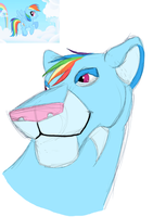 My Little Lion: Rainbow Dash by lionsilverwolf