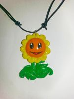 Plants vs Zombies Sunflower Pendant by Ragamuffyn