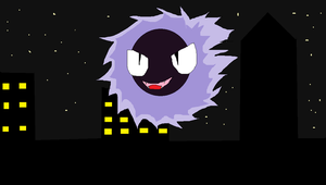 Gastly in town by Neondragon94