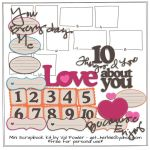 10 Things I Love About You Scrapbooking Kit by Valgal02