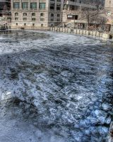 Frozen Chicago River II by spudart
