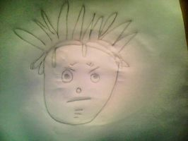 My little brother's drawing of Black Star by whiteandnerdyXD