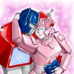 Optimus Prime and Elita One by kuramamew