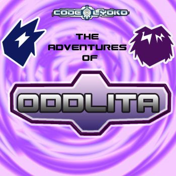 logo the adventures of odd and aelita by sibred