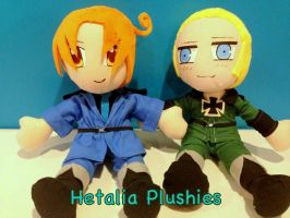 Hetalia Plushies - Axis Powers by CeltysShadow