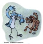 Regular Show - Mordecai and Rigby by AK-Is-Harmless