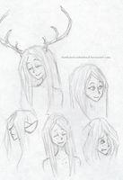 Fawn doodles by Radioactivedeadend