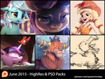 June Patron Packs - HighRes and PSD by AssasinMonkey