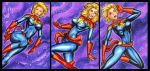 CAPTAIN MARVELL PERSONAL SKETCH CARDS by AHochrein2010