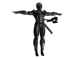 METAL GEAR RISING: RAIDEN 3D model by FRANKASTER1987