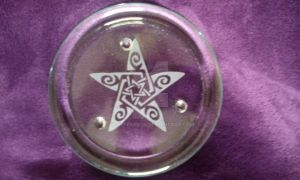 Pentacle candle holder by WhyteRaven