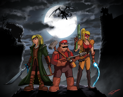 Super Monster Hunters Bros by FrancoFerrari