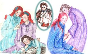 The Belles of Winterfell (and Robb) by sketchditto