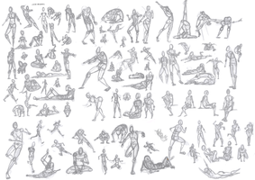 100 No Ref Figure Poses by PhoxTanks
