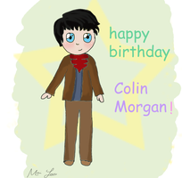 Happy Birthday Colin Morgan!! by YoungNightingale