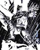 Inks over Jim Lee's Batman by RPotchak
