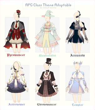[CLOSED] RPG Class Theme Outfit Adopt #28 by Black-Quose