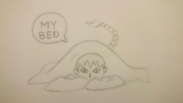 Tyrian stole Fox's bed by Urube