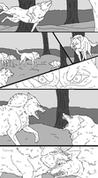 Wolf Comic Lineart by WhiteWolfCrisis13