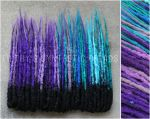Black purple turquoise synthetic dreads by FilthyDreads