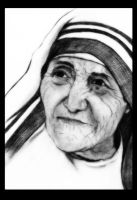 Mother Teresa by manojart