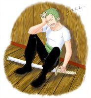 Zoro Sleeping Colour by Kotszok