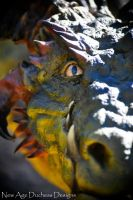 Spike Backed River Dragon Closeup by RavendarkCreations
