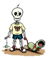 Skeleboy and Wormsy by weakcut