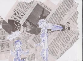 newspaper toodles by Floral-print-boots