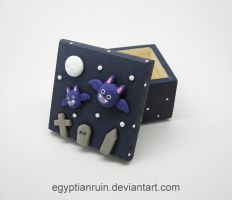 Halloween Bat Family Decorative Box by egyptianruin