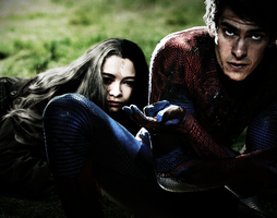 Spider-man and Melinoe by NohrPrincess