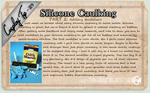 Cosplay Tip 29: Silicone Caulking Part 2 by Bllacksheep