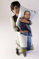The Ken Levine Body Pillow by Ananina23