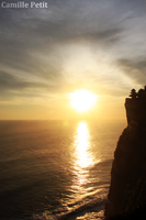 Sunset at Uluwatu temple by camsmac