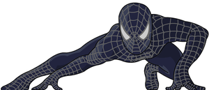 Crouching Spiderman Vector by moonmanz