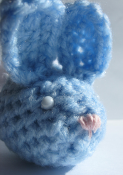 Blue Easter Egg Bunny by Amif