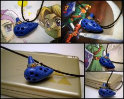 LoZ Ocarina Necklace by Noviel