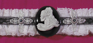 Skeleton Cameo Choker Black 2 by MorganCrone
