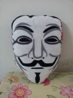 Handmade Guy Fawkes Vendetta Anonymous Mask Pillow by RbitencourtUSA