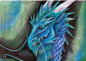 Blue dragon by BobbyDazzl3r