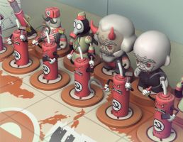 Red Scare Chess Set 02 by CCrumpler