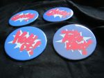 3'' Ace Attorney Fan Buttons by SnowBunnyStudios