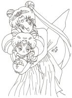 Queen Serenity And Small Lady by usagisailormoon20