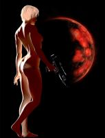 The Girl, the Moon, and a Gun by bovistock