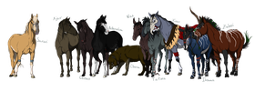 Character lineup. by Atterimus