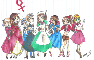Hetalia Girls by IbuVanWEEDS