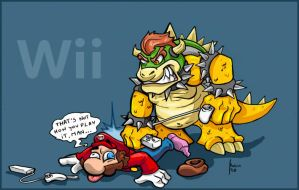 super mario beating by robiant