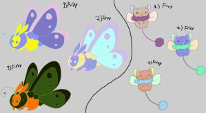 Bunnerfly and Dragster free adoptables set 2 SOLD by Feendra13